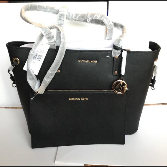 🌹🌸mk drawstring tote shoulder bag large black 9d187ce826d31